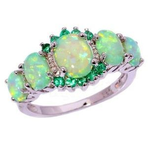 15+ TCW GREEN FIRE OPAL ~ 925 STERLING SILVER